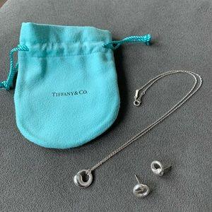 Tiffany Elsa Peretti Circle Pendant & Earrings
